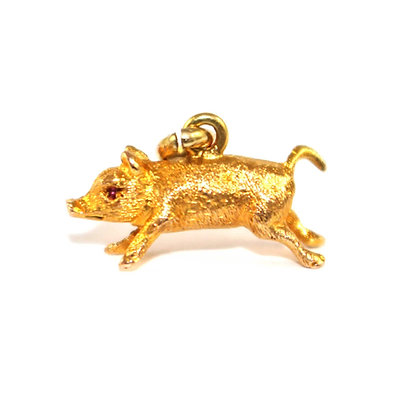 Victorian Pig 'Lucky' Charm