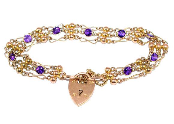 Edwardian Amethyst Bracelet
