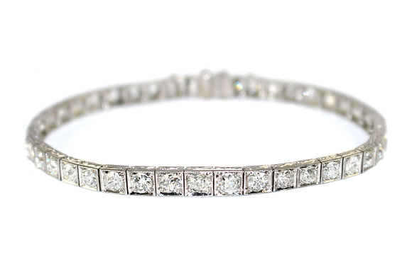 Art Deco Diamond Line Bracelet c.1930
