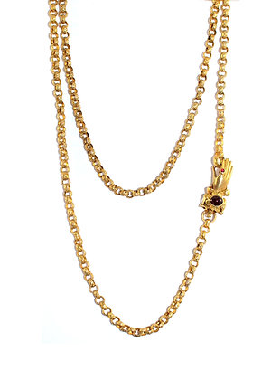 Georgian Gold Guard Chain with Hand Clasp c.1800