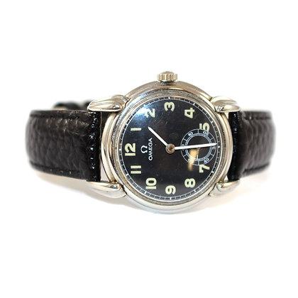 Omega Black Faced Watch c.1939