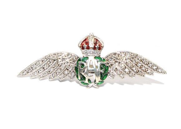 Art Deco Diamond RAF Sweetheart Brooch