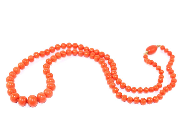 Victorian Graduated Coral Bead Necklace c.1900