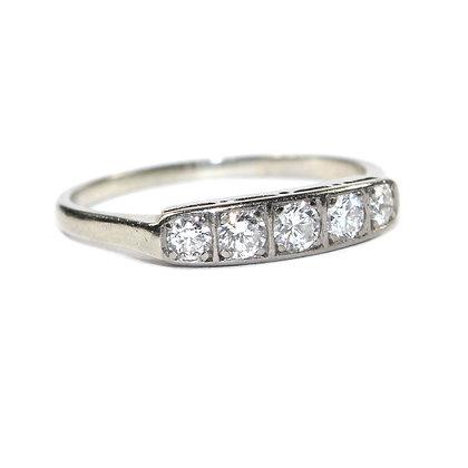 Art Deco Diamond 5 Stone Ring