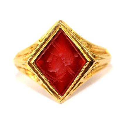Victorian Carved Intaglio Signet Ring