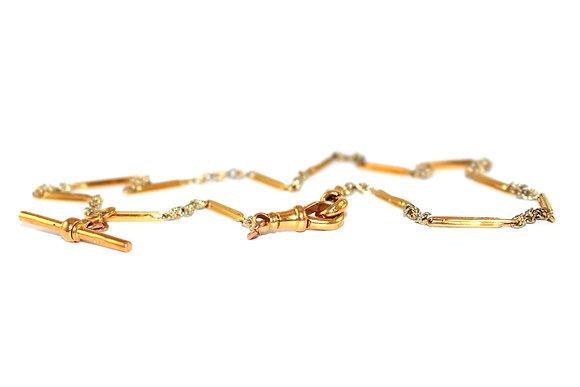 Edwardian 18ct gold Albert chain