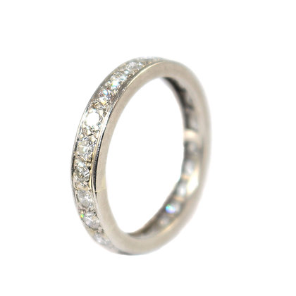 Art Deco Diamond Eternity Ring, French c.1935 size M