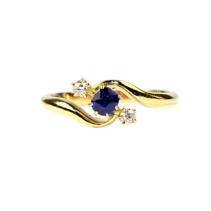 Edwardian Sapphire & Diamond Engagement Ring