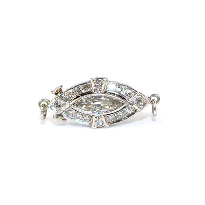 Art Deco Marquise Diamond Clasp c.1930