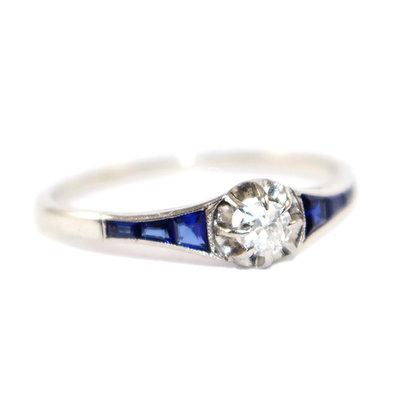Antique Sapphire & Diamond Ring Jewellery Shrewsbury