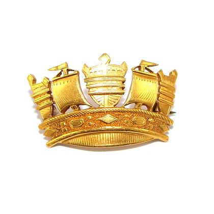 Antique Naval Crown Brooch
