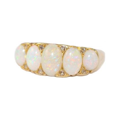Edwardian Opal 5 Stone Ring