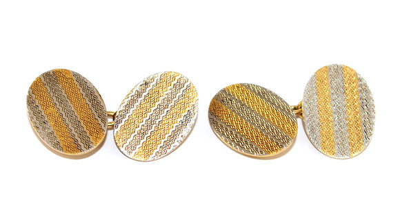 Art Deco Platinum and Gold Cufflinks