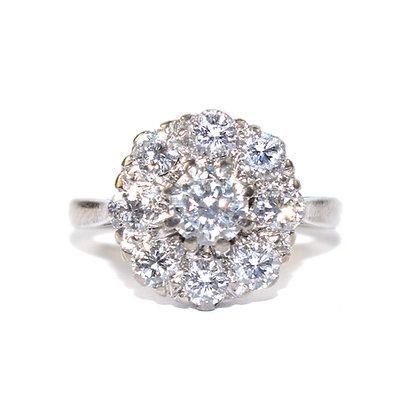 Diamond Cluster Ring c.1950