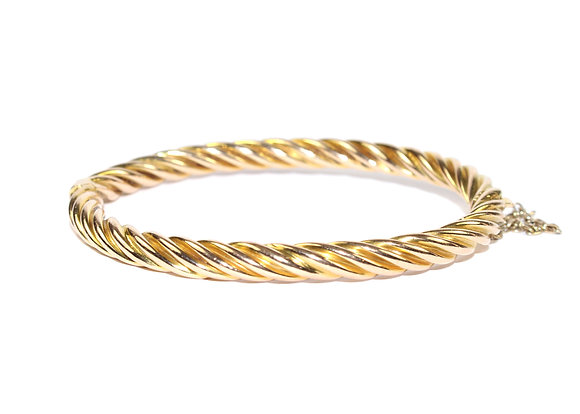 ANTIQUE GOLD ROPE TWIST BANGLE