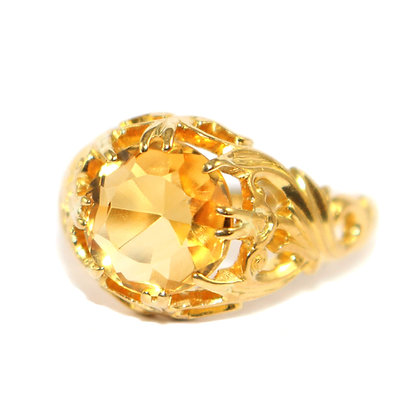Art Nouveau Citrine Ring