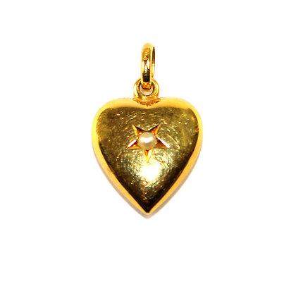 Antique Gold Heart Pendant