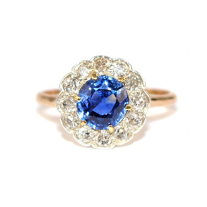 Edwardian Sapphire Ring Shrewsbury Jeweller