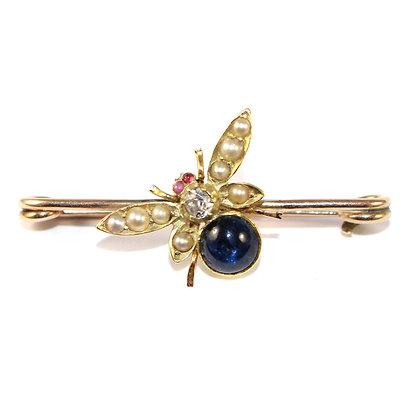 Victorian Sapphire Bee Stock Pin