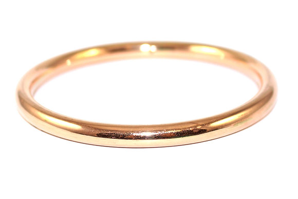 Art Deco Rose Gold Slave Bangle c.1930