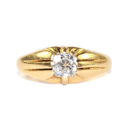 Gypsy Set Solitaire Ring