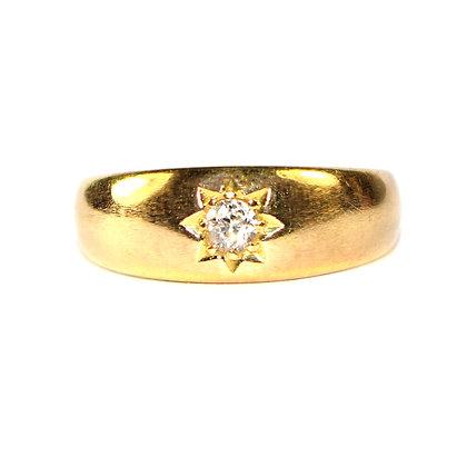 Antique diamond gypsy ring