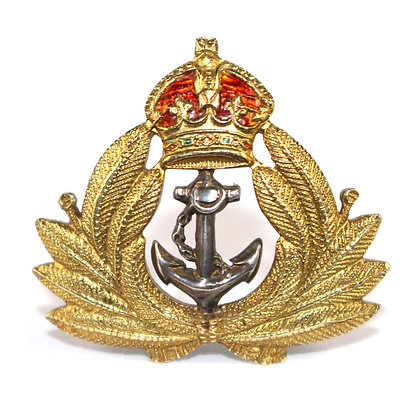 Gold Naval Cap Badge Edwardian