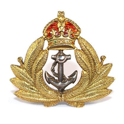 Gold Naval Cap Badge Edwardian