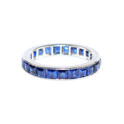 Art Deco Sapphire Eternity Ring size I 1/2