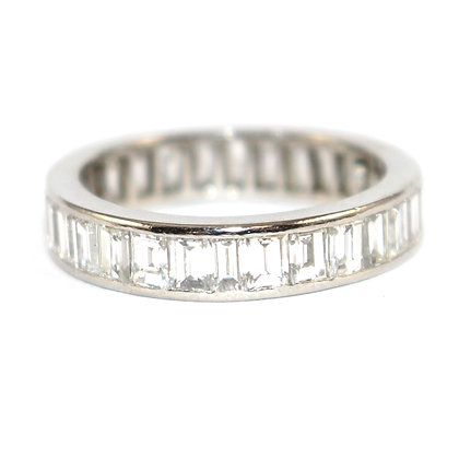 Art Deco Baguette Diamond Eternity Ring