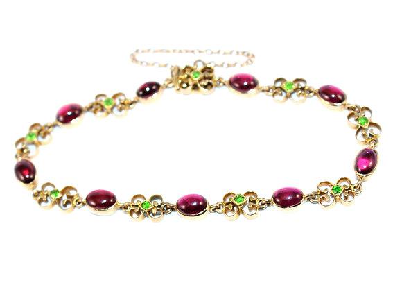 Edwardian garnet bracelet