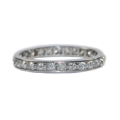 Art Deco Diamond Eternity Band