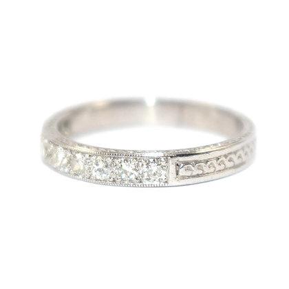Art Deco Diamond Half Eternity Ring
