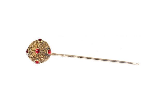 Victorian Garnet Stickpin c1890