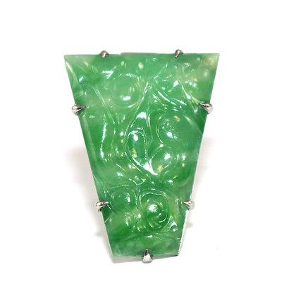 Art Deco Jade Clip