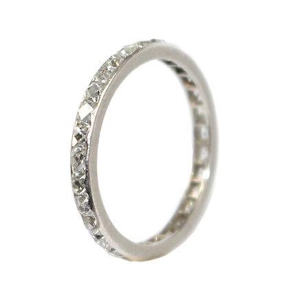 Art Deco French-cut diamond eternity ring