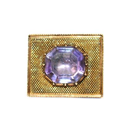 Georgian Amethyst Lace Pin