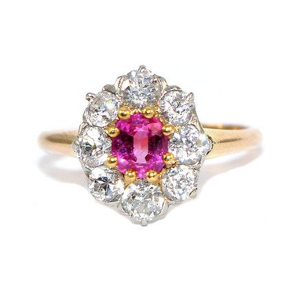 Edwardian Pink Sapphire Ring