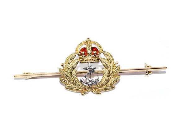 Art Deco Naval Cap Sweetheart Brooch