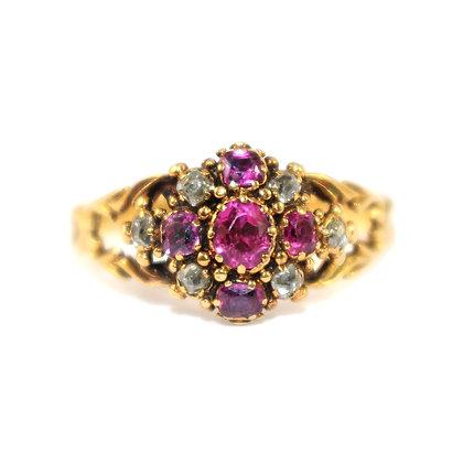 Antique Georgian Ruby and Diamond ring