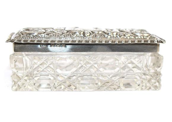 Victorian Silver Glass Box