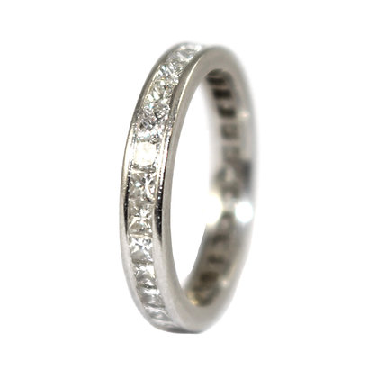 Diamond Eternity ring size H size 4.5