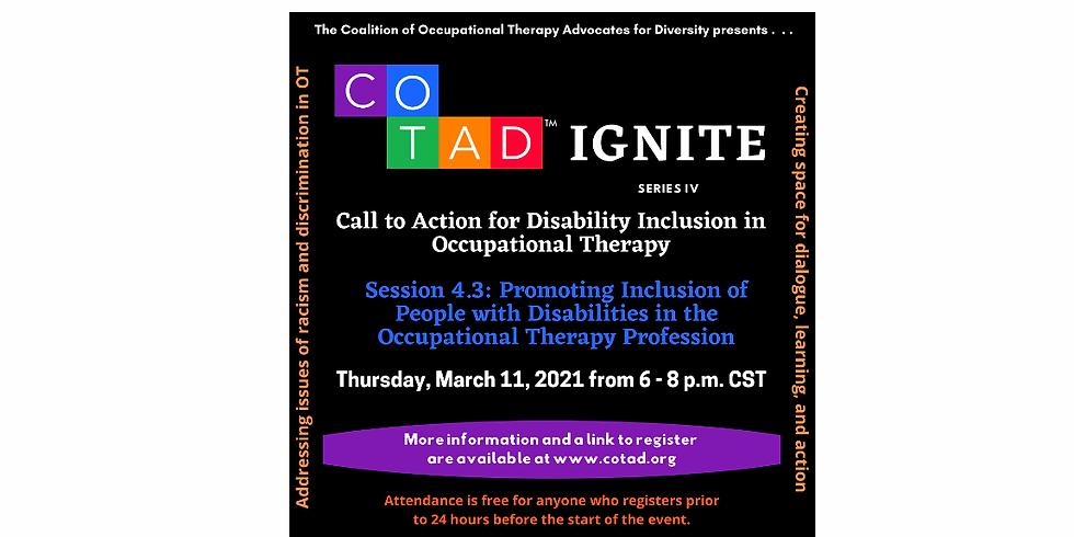 COTAD IGNITE Series IV: Session 3