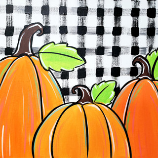 Z-Buffalo Plaid Pumpkin