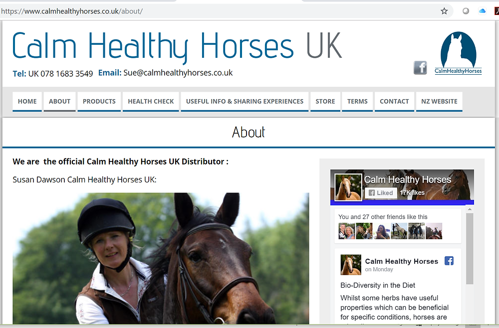 Calm Healthy Horses (UK) provide a tailored approach to feeding horses.