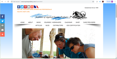 The IAEP website for education and products helping hoof diseases and lame horses