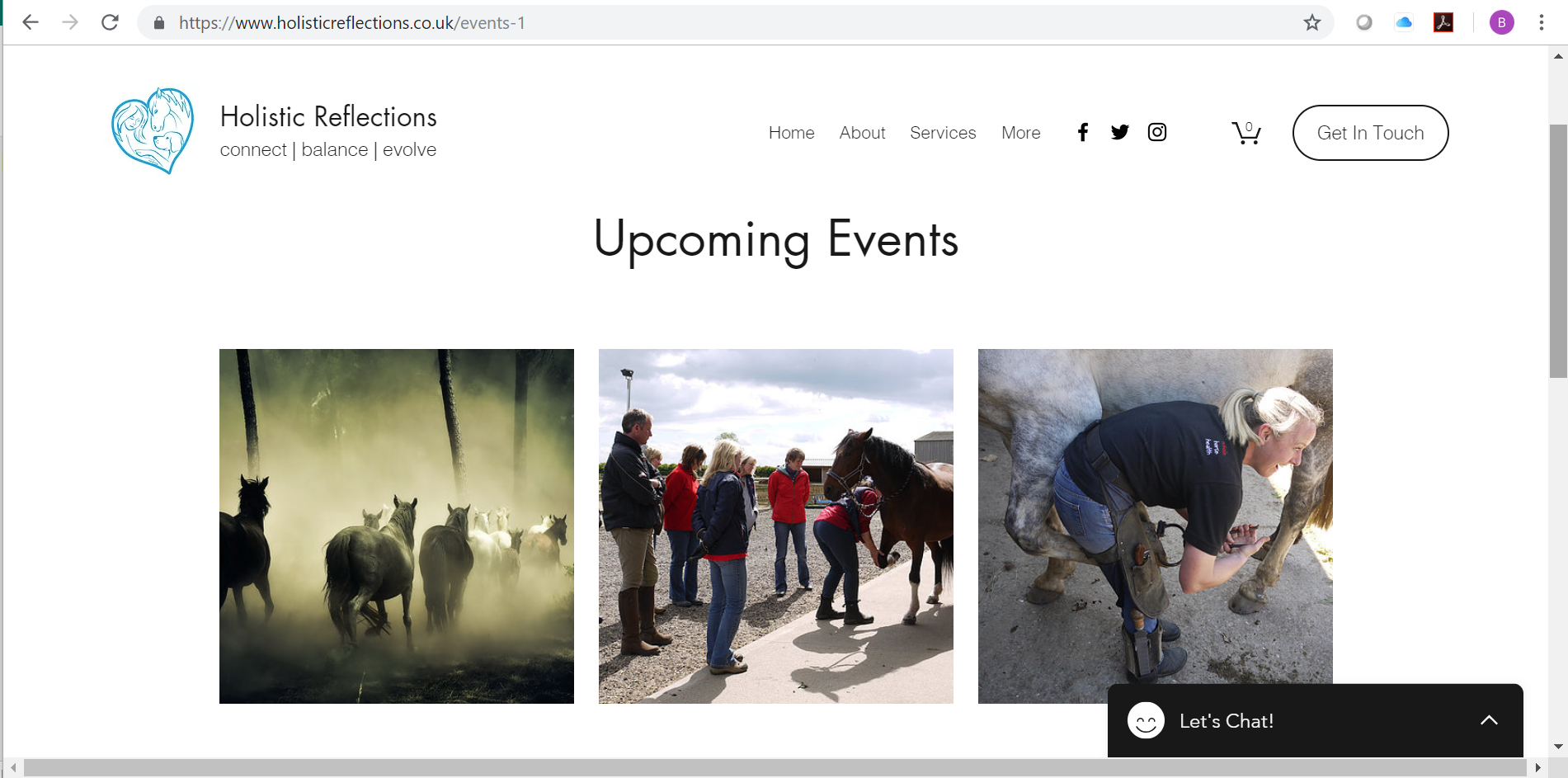 Events and Courses