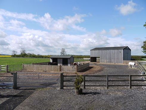 turnout area, shelters and barn.JPG