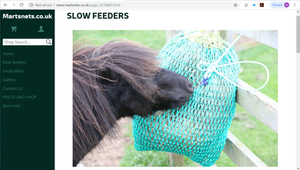 Martsnet slow feeding net for good doers and to relieve boredom!