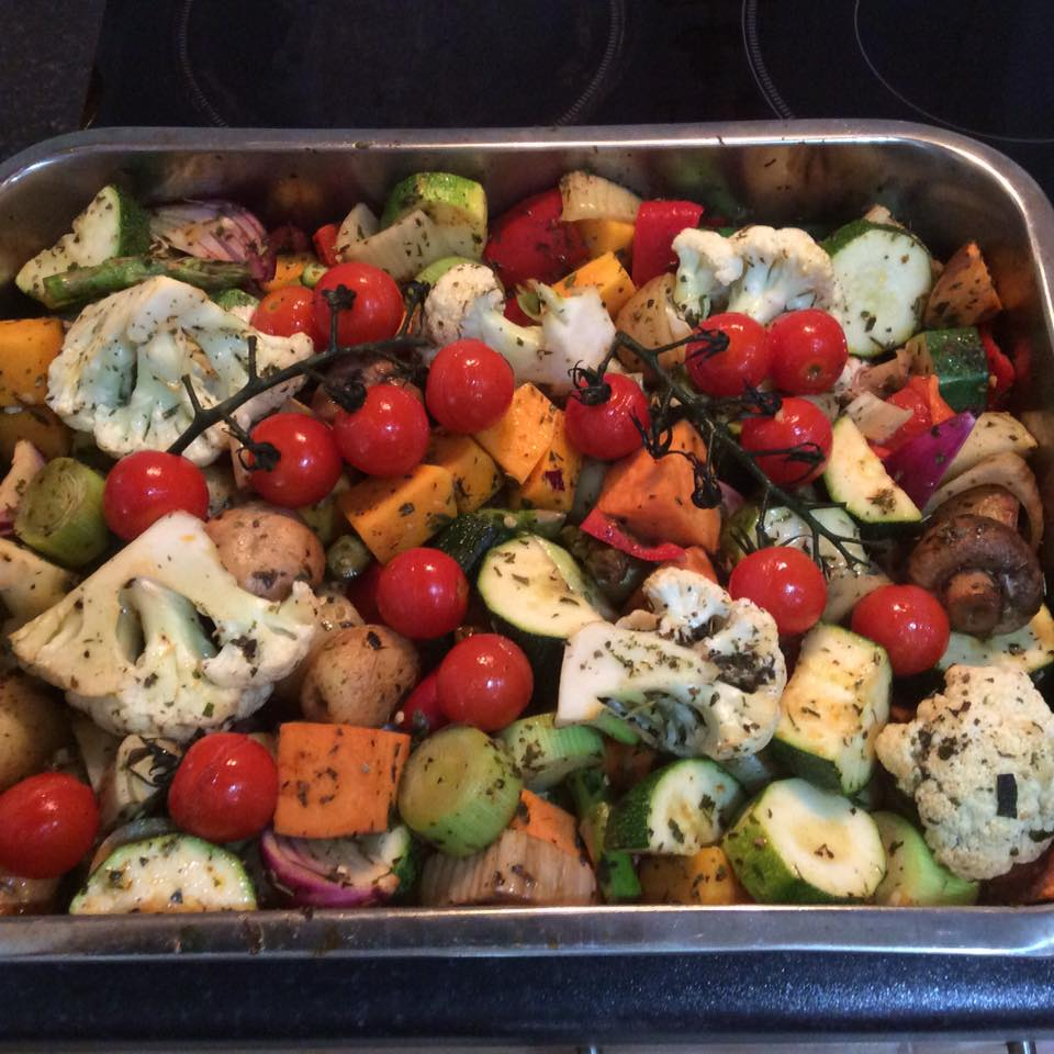 Our healthy vegan mediterranean roast